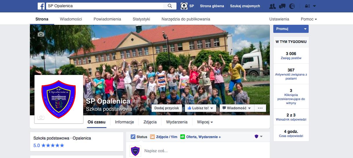Polub profil naszej szkoły na Facebooku!