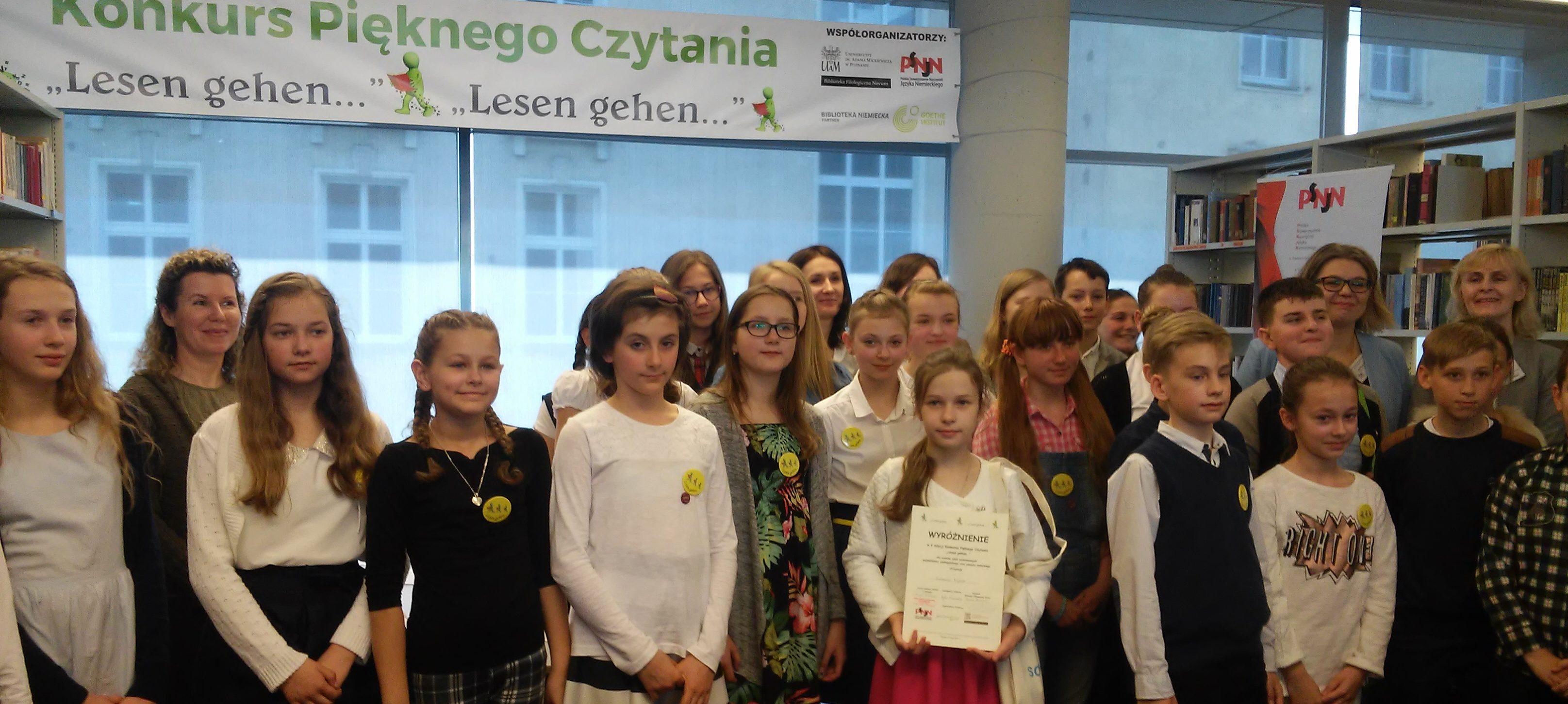 """Konkurs Pięknego Czytania """"Lesen gehen…"""""""