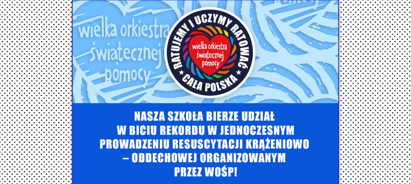 Dzisiaj uczestniczymy w największej lekcji resuscytacji krążeniowo – oddechowej w Polsce