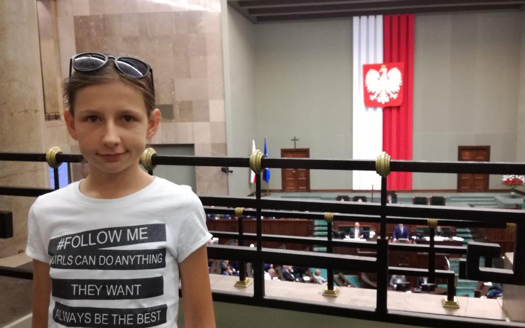 Jagoda Hegenbarth z klasy 6c wraz z tatą pojechała do Warszawy na zaproszenie senatora RP Jana Filipa Libickiego