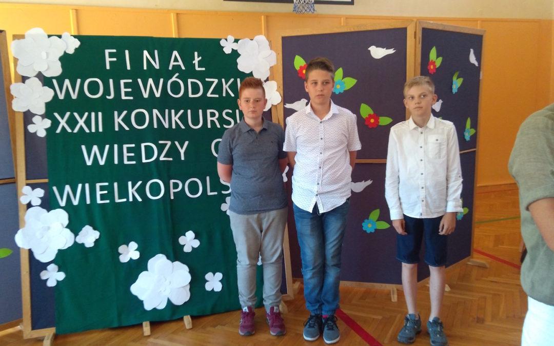 """Sukces miłośników """"małej ojczyzny"""" w finale wojewódzkim XXII INEA Konkursu Wiedzy o Wielkopolsce"""