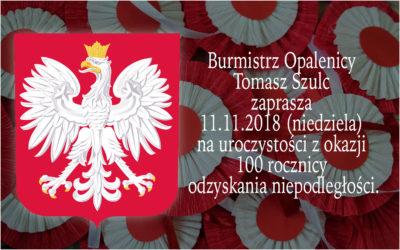 11.11.2018 – zaproszenie Burmistrza Opalenicy