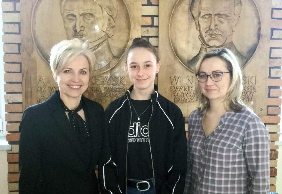 Sukces naszej uczennicy w Rejonowym Konkursie Językowym