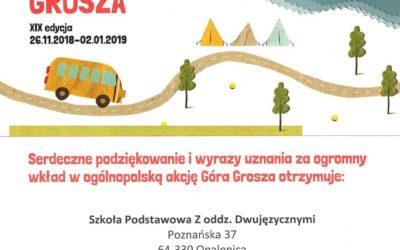 """XIX """"Góra Grosza"""" w naszej Szkole"""