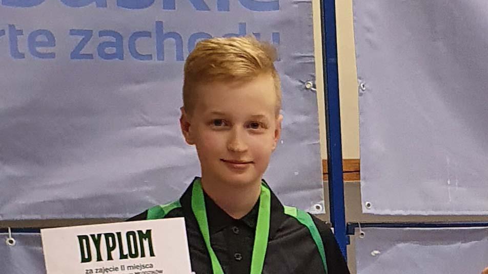 Michał Kaźmierczak drugi na międzynarodowym turnieju tenisa stołowego