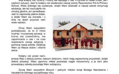 Życzenia i podziękowania z Tanzanii