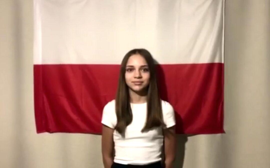 Uczniowie naszej szkoły upamiętnili Dzień Flagi Rzeczypospolitej Polskiej oraz Święto Konstytucji 3 Maja