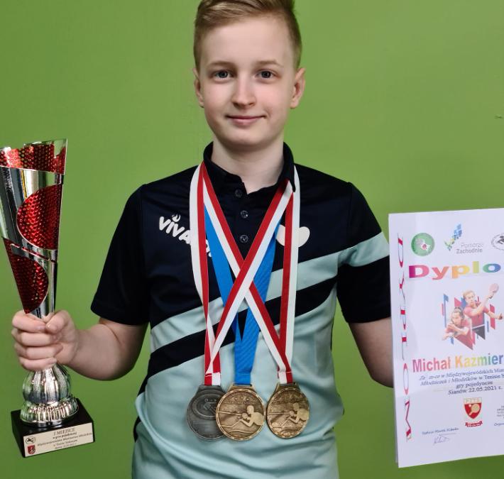 Trzy medale Michała na zakończenie sezonu